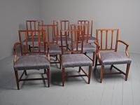 Antique Set of 8 George III Mahogany Dining Chairs (2 of 11)