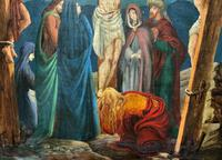 Superb 19th Century Old Master Biblical Christ Oil Portrait Painting - Gothic Oak Frame (7 of 17)
