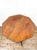 Late Victorian Walnut Octagonal Centre Table (10 of 10)