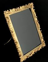 Victorian Gilt Brass Oblong Easel Photo Frame