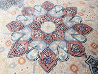 Vintage Ivory Ground Persian Medallion Rug (2 of 6)