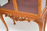 Queen Anne Style Burr Walnut Display Cabinet c.1930 (10 of 11)