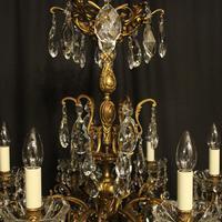 Italian Gilt Bronze & Crystal 6 Light Antique Chandelier (7 of 10)