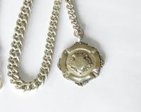 1920s Silver Pocket Watch Chain & Tennis Fob (2 of 4)