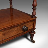 Antique Two Tier Side Table, Mahogany Whatnot, Regency Canterbury, Display Stand (11 of 12)