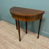Elegant Small Edwardian Antique D End Games / Side Table (3 of 6)