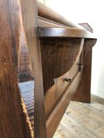 Antique Pitch Pine Chapel Pew with Shaped Sides (11 of 14)