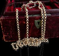 Antique gold longuard chain, necklace (2 of 14)