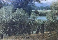 Original oil on canvas 'Watering the horses' by William Taunton. Signed. c.1870 (2 of 2)