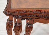 Pretty Queen Anne Style Nest of 3 Tables c.1930 (3 of 8)