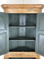 Antique Pine Free Standing Corner Cupboard (9 of 10)