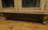 Antique Limed Oak Display Cabinet, Victorian rustic bohemian wall cabinet (8 of 16)