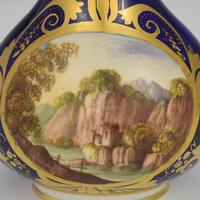Georgian Derby Porcelain Scent Bottle Landscape View c.1815 (8 of 8)