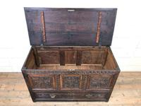 18th Century Carved Oak Mule Chest (3 of 13)