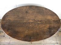 Unusual Antique Oak Oval Top Table (8 of 12)