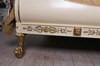 Very Rare Renaissance Style Sleigh Bed with Parcel Gilt (6 of 15)
