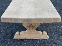 Huge French Bleached Oak Farmhouse Dining Table (22 of 34)