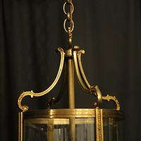 French Pair of Bronze Antique Hall Lanterns (7 of 10)