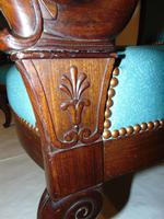 Pair French Empire mahogany elbow chairs (3 of 9)