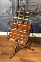 Victorian Brass & Oak Revolving Bookcase (3 of 9)
