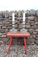 Pair of Swedish 'Folk Art' Large Over-sized Wooden Painted Candlesticks 20th Century (5 of 17)
