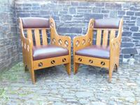 Pair of Arts & Crafts Chairs - Goodyers (3 of 9)