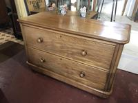 Antique Lowboy Two Drawer Mahogany Chest of Drawers