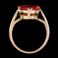 Antique Victorian 4.5ct Mexican Fire Opal Ring 9ct Gold Circa 1900 (5 of 6)