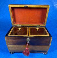 Regency Rosewood Twin Section Tea Caddy (8 of 12)