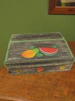 Shabby Chic Folk Art Painted Writing Slope Box with Fruit, Recipe Storage (8 of 14)