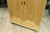 Fabulous Old Pine Knock Down 'arts & Crafts' Double Wardrobe  - We Deliver & Assemble! (5 of 16)