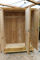 Lovely Old Antique Pine Triple 'knock down' Wardrobe - We Deliver / Assemble (6 of 8)