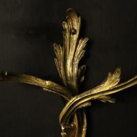 French Pair of Bronze Antique Wall Gasoliers (5 of 10)