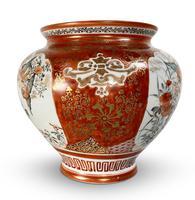Meiji Period Kutani Kacho Decorated Vase (3 of 5)