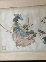 Lovely 19th Century Chinese Watercolour (5 of 6)