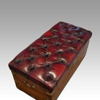 Victorian Leather Camphor Wood Ottoman (2 of 10)