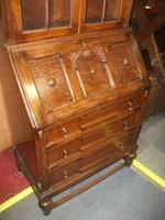 Glazed Oak Bureau Bookcase (3 of 7)