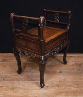 Antique Chinese Stool Hand Carved Piano Circa 1880 (6 of 10)