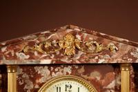 Grand Tour Style Very Decorative French Gilded Brass & Marble Clock Garniture (4 of 14)