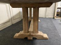 French Bleached Oak Farmhouse Dining Table (6 of 15)