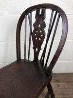 Antique Ash & Elm Child's Wheelback Chair (4 of 6)