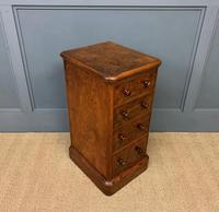 Victorian Pair of Burr Walnut Bedside Chests (4 of 14)