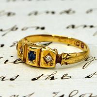 The Antique Victorian 1896 Sapphire & Diamond Ring (2 of 4)