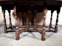 Large Oak Drop Leaf Table, Gate Leg Table, Dining Table - Seats Eight Persons (9 of 9)