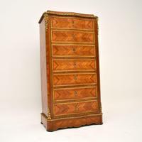 Antique French Inlaid Kingwood Secretaire Bureau Chest (3 of 11)