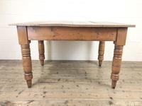 Antique Pine Farmhouse Kitchen Table with Oak Top (9 of 9)