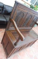 Country Oak Cottage Settle 1820 (9 of 10)