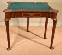 Early 18th Century Inlaid Pad Foot Card Table (4 of 9)
