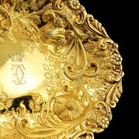 Majestic Antique Solid Silver Gilt Large Dishes / Bowls - Set of 3 - John Aldwinckle & Thomas Slater 1892 (13 of 18)