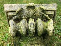 Architectural Feature Medieval Style Stone Cherub Acanthus Scroll Crown Corner Garden Corbel (4 of 13)